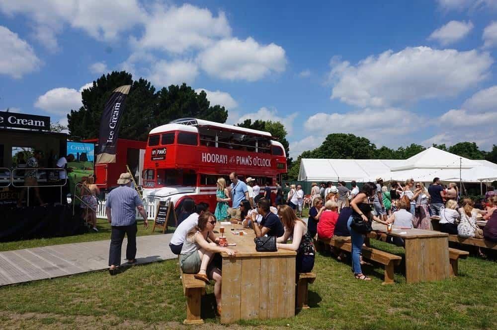 Pimms bus at Taste of London