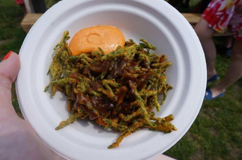 Samphire pakoras from Kricket