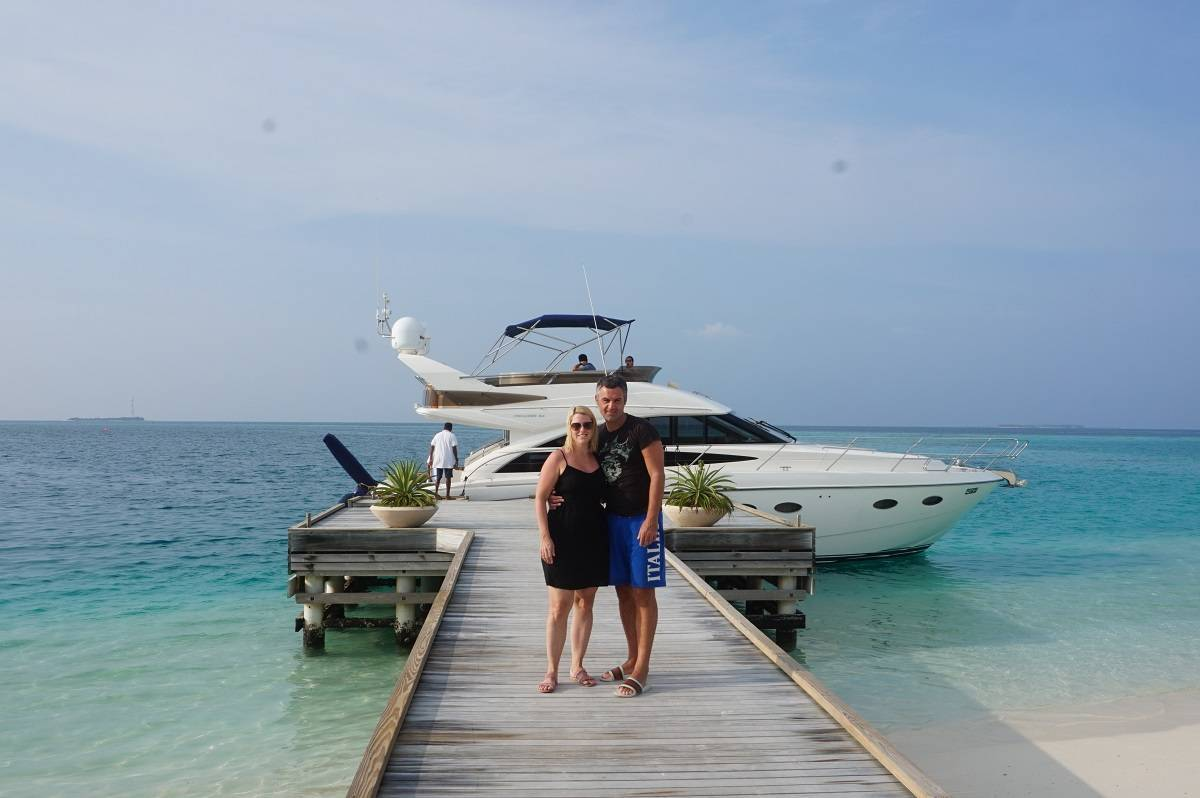 Arriving at Huvafen Fushi in the Maldives