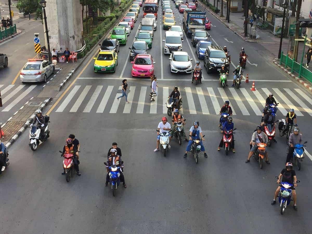 Bangkok street traffic