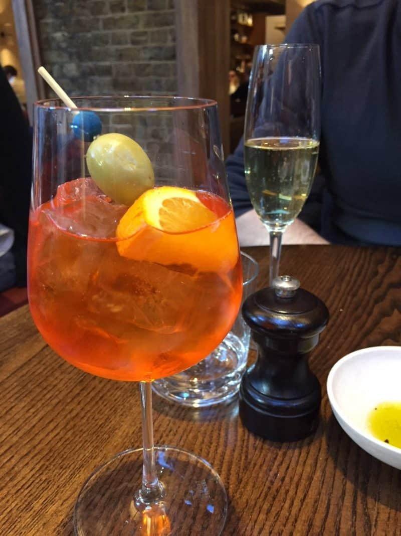 Drinks at Luca Restaurant in Clerkenwell