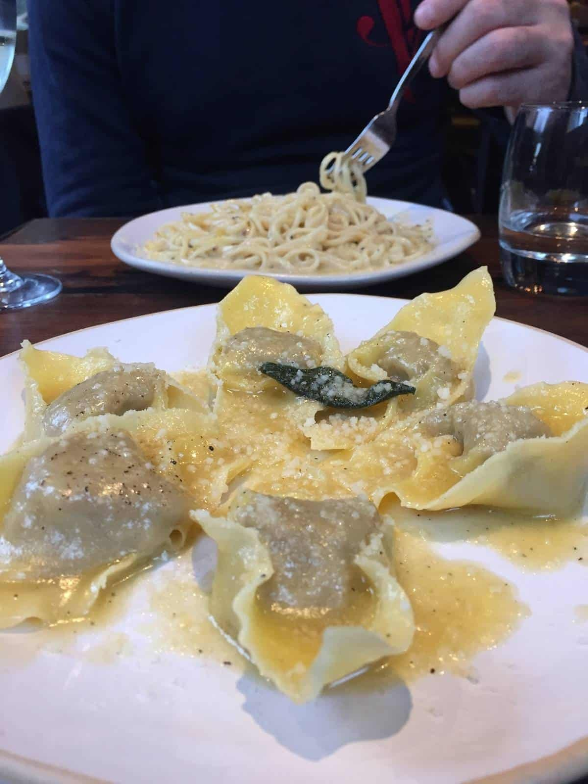 Tortelloni with roasted pork shoulder from Flour and Grape in Bermondsey