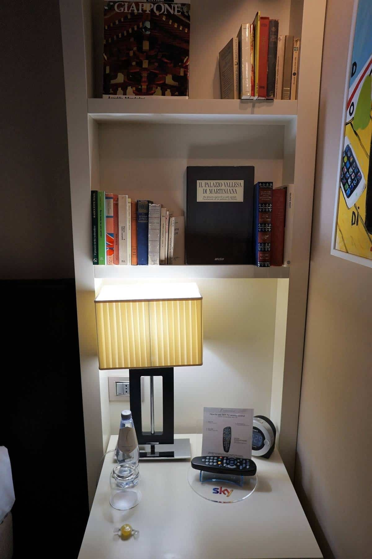 Bookshelf decor at The First Roma