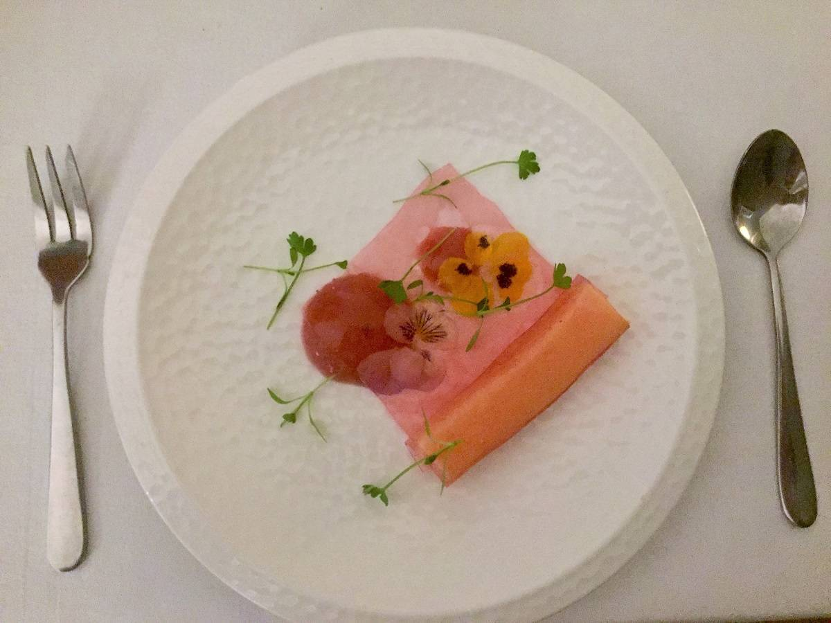 Dessert at the Bow Room restaurant Grays Court