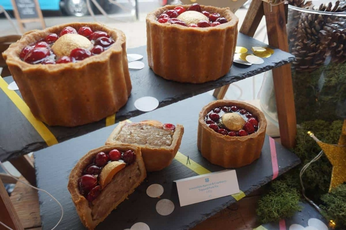 Irresistible Apricot and Cranberry topped pork pie by Co-op