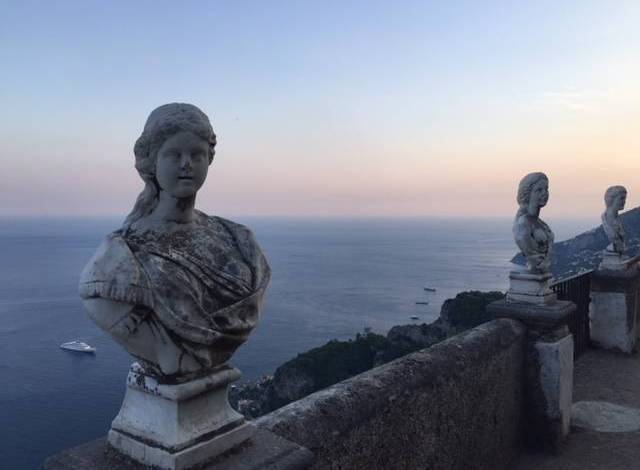 The view at Villa Cimbrone in Ravello