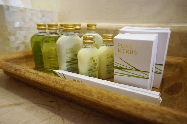 Bathroom products at Casa Buonocore Positano