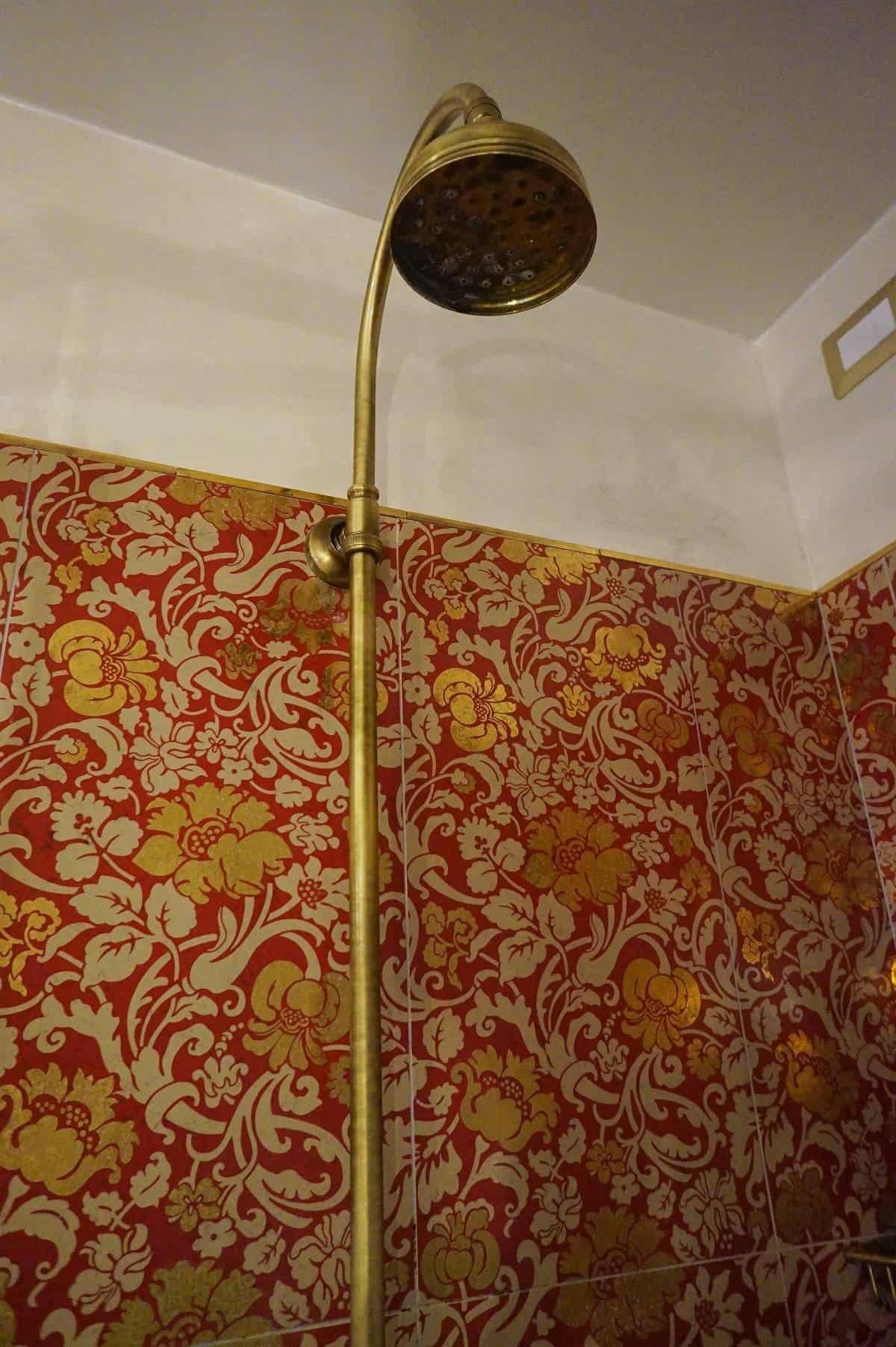 Shower detail at Casa Buonocore Positano
