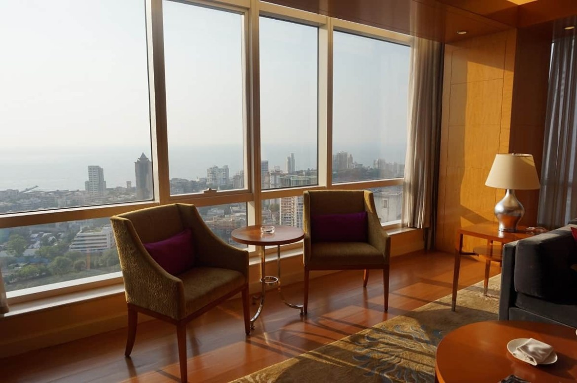 View from suite in Four Seasons Mumbai