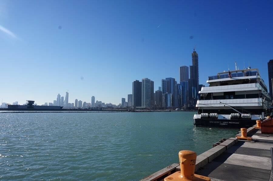 City view of Chicago from Navy Pier