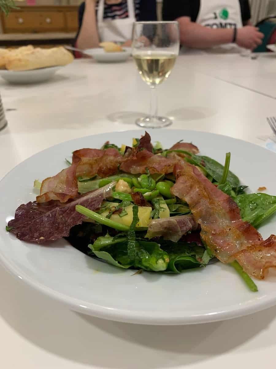 Comte summer salad
