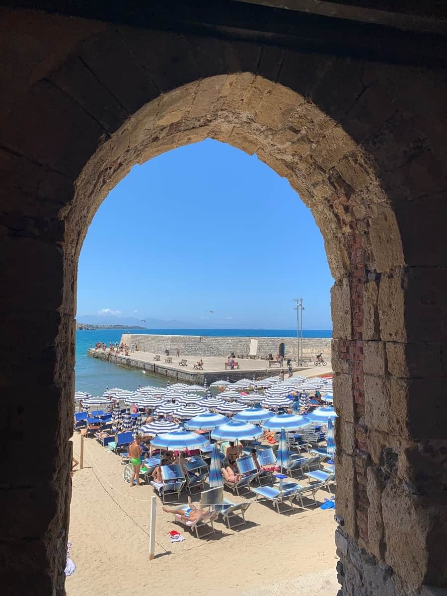 Gateway to the beach in Cefalu