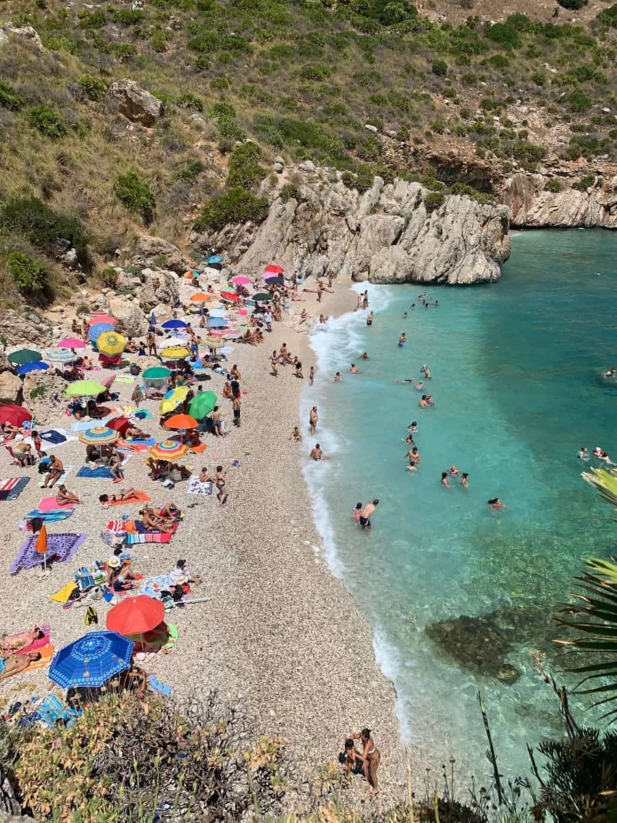 First beach in Riserva lo Zingaro