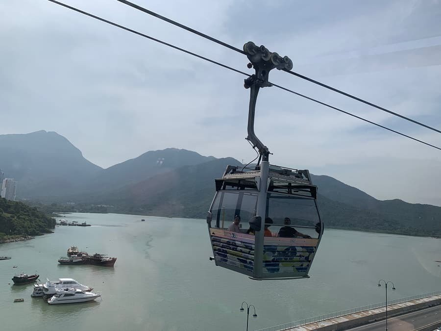 Ngong Ping 360 cable car in Hong Kong