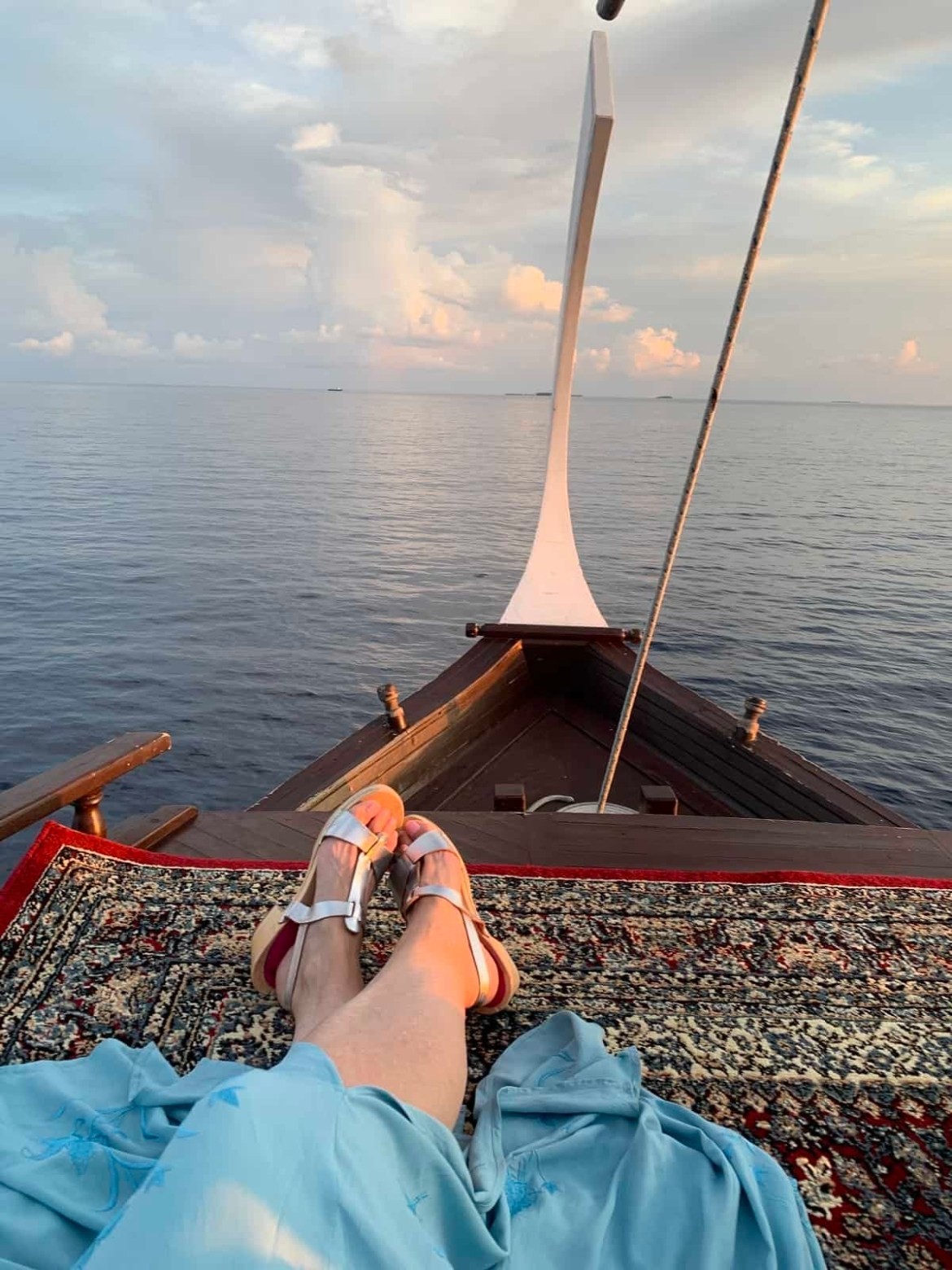 Champagne sunset cruise in the Maldives
