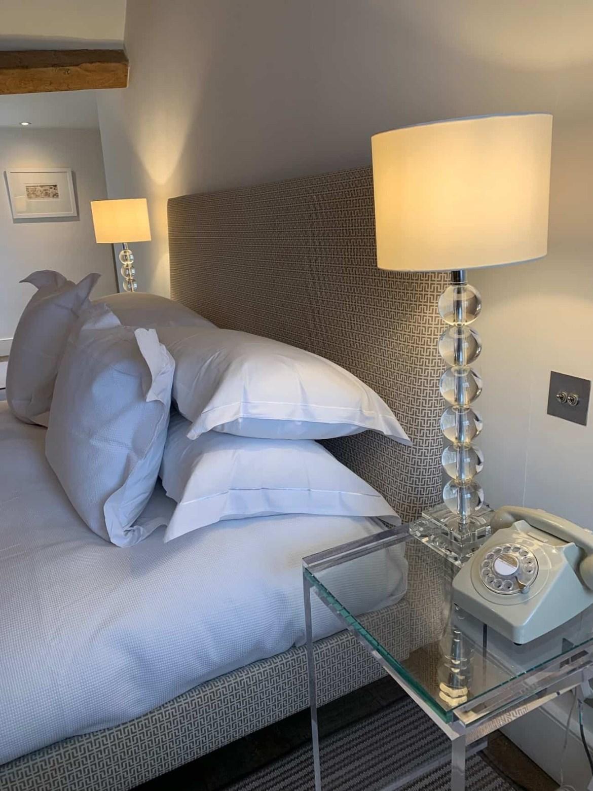 Comfy bed at Barnsley House