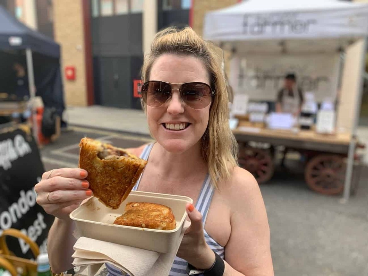 Grilled cheese at Maltby Street Market