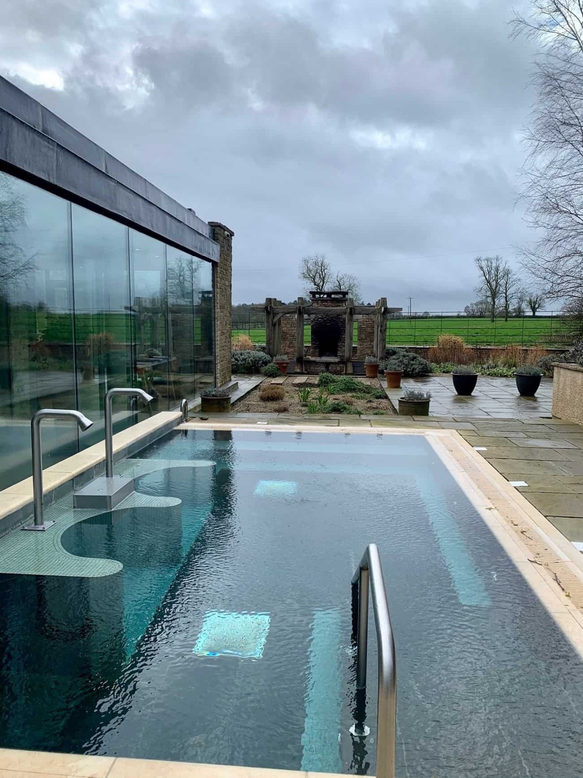 Hydrotherapy pool at Barnsley House spa