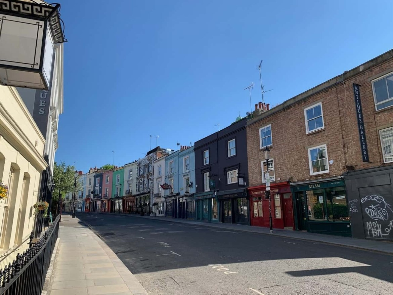 Portobello Road in Notting Hill