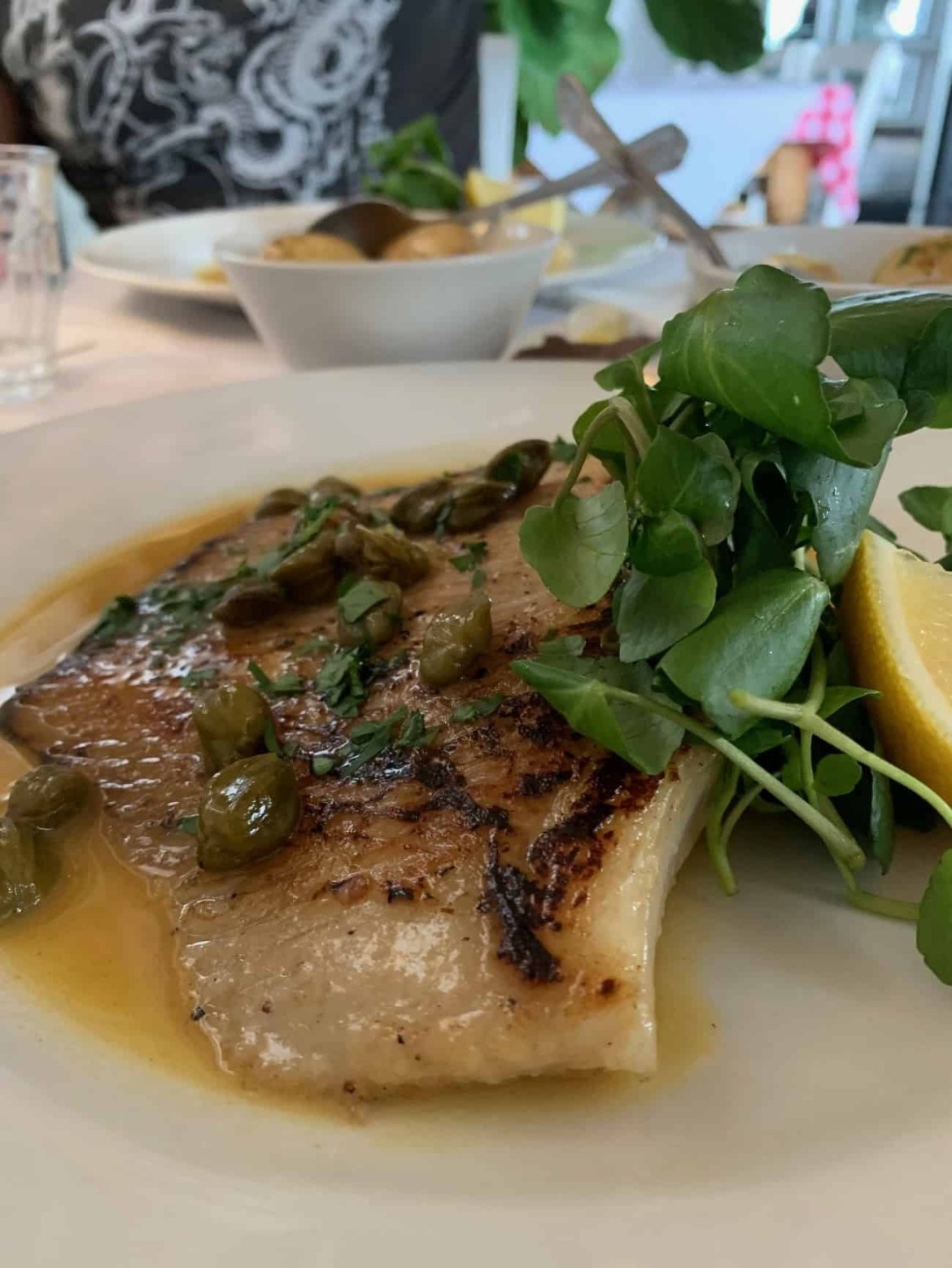 Fish main for lunch at Whitstable Oyster Company