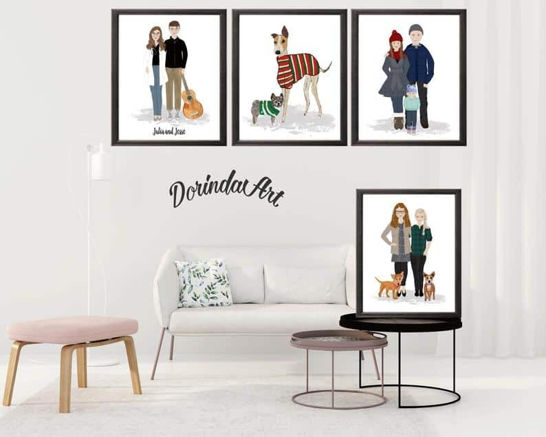 Dorinda Art custom illustrations