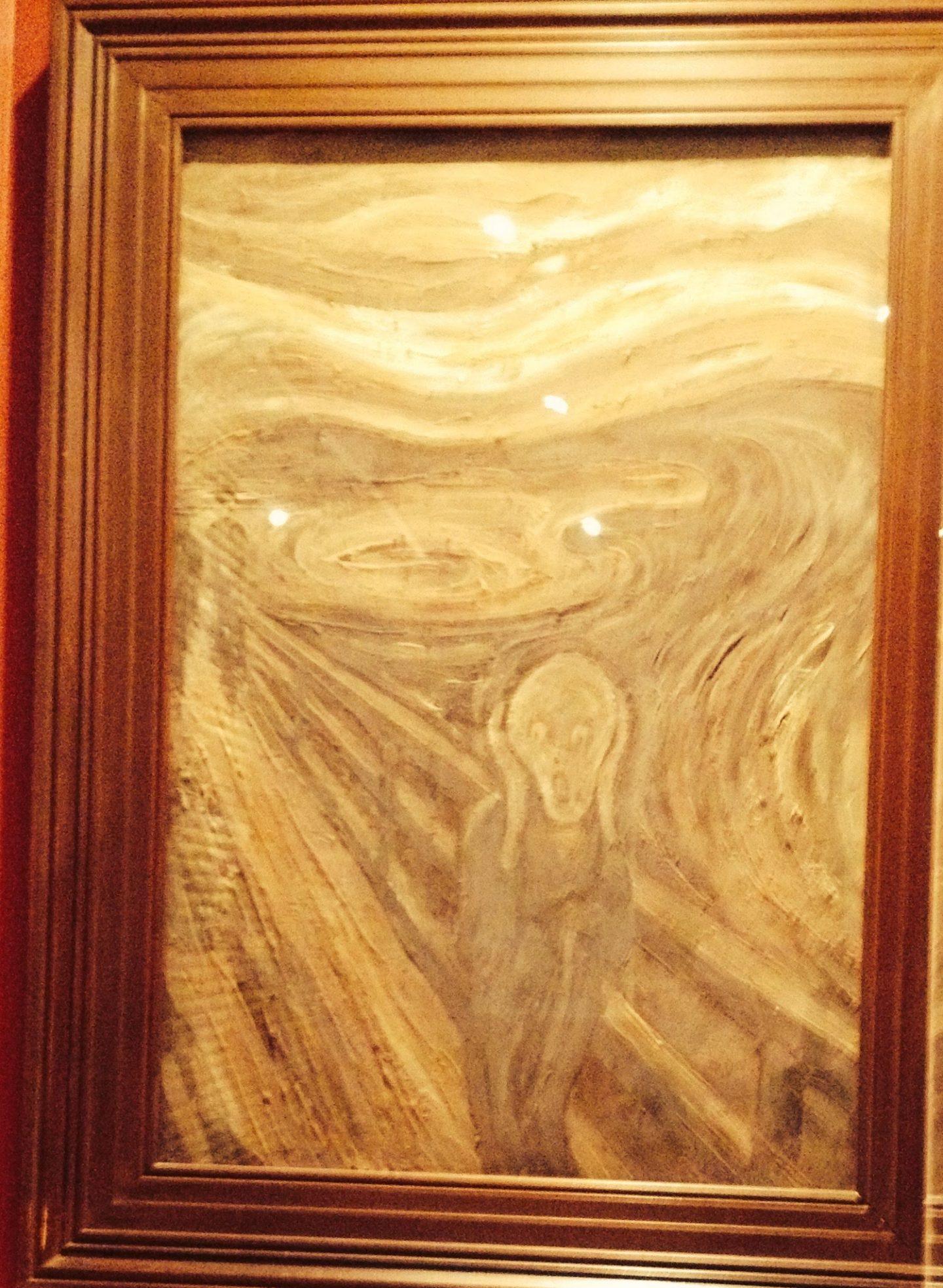 Edvard Munch's Scream made from chocolate