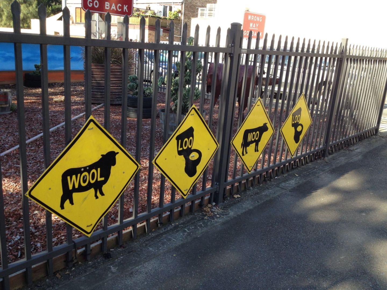 Woolloomooloo sign in Australia