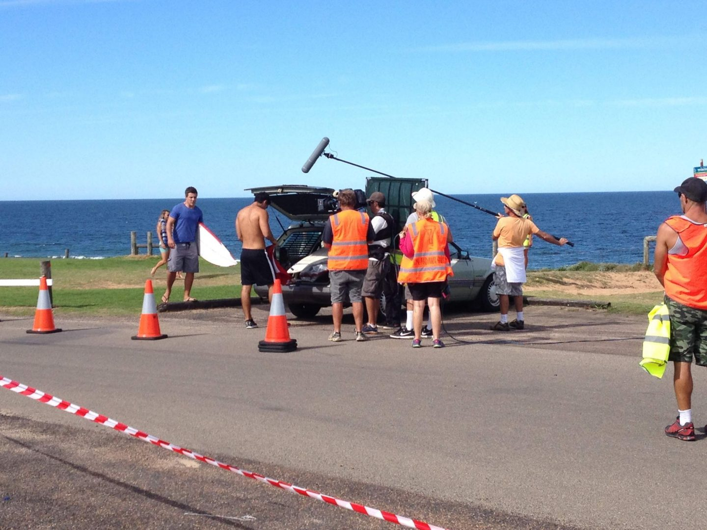 On set of Home and Away