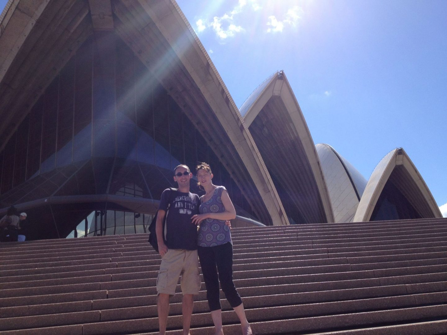 Outside Sydney Opera House