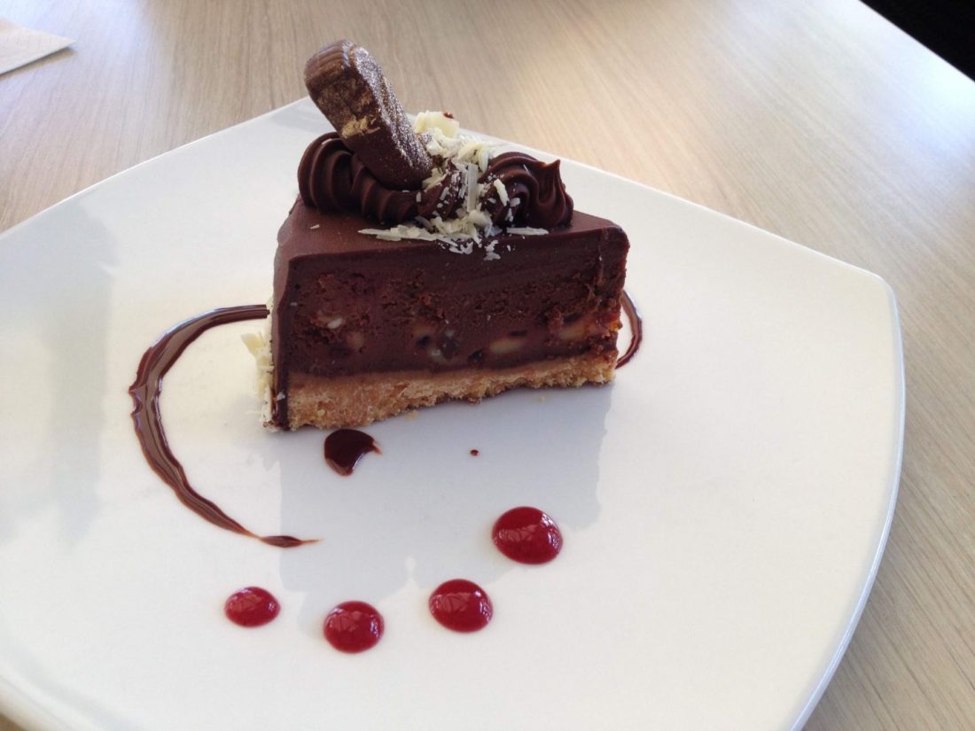 Chocolate raspberry cheesecake from Guylian Cafe, Sydney