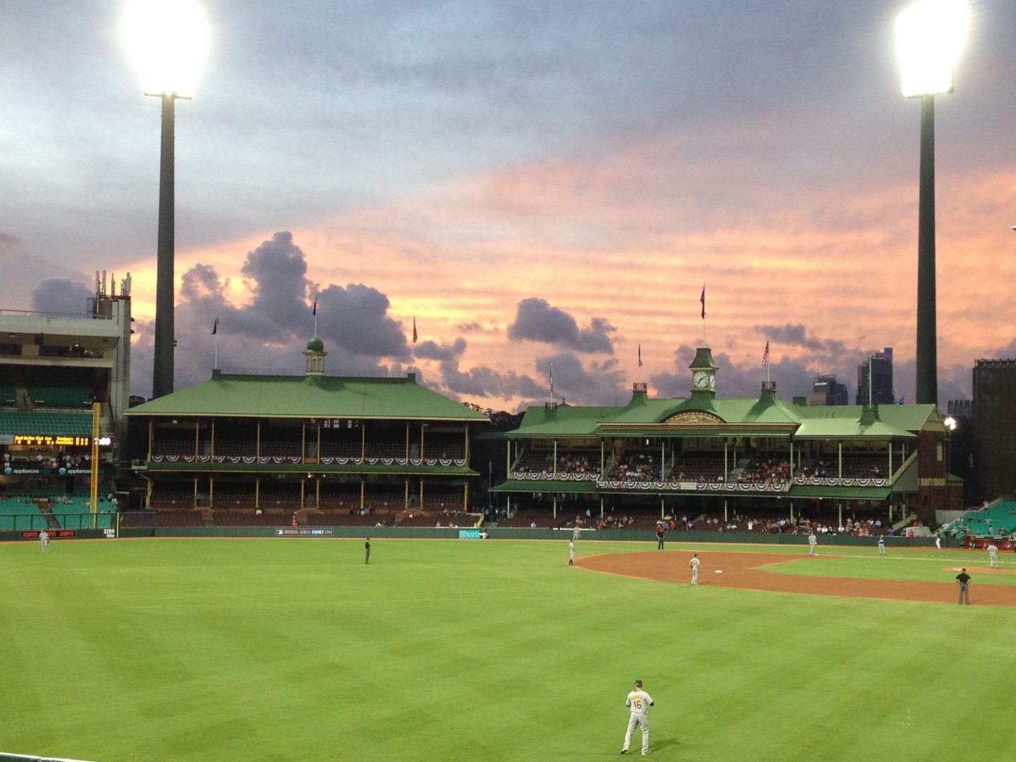 A beautiful sunset over Sydney Cricket Ground