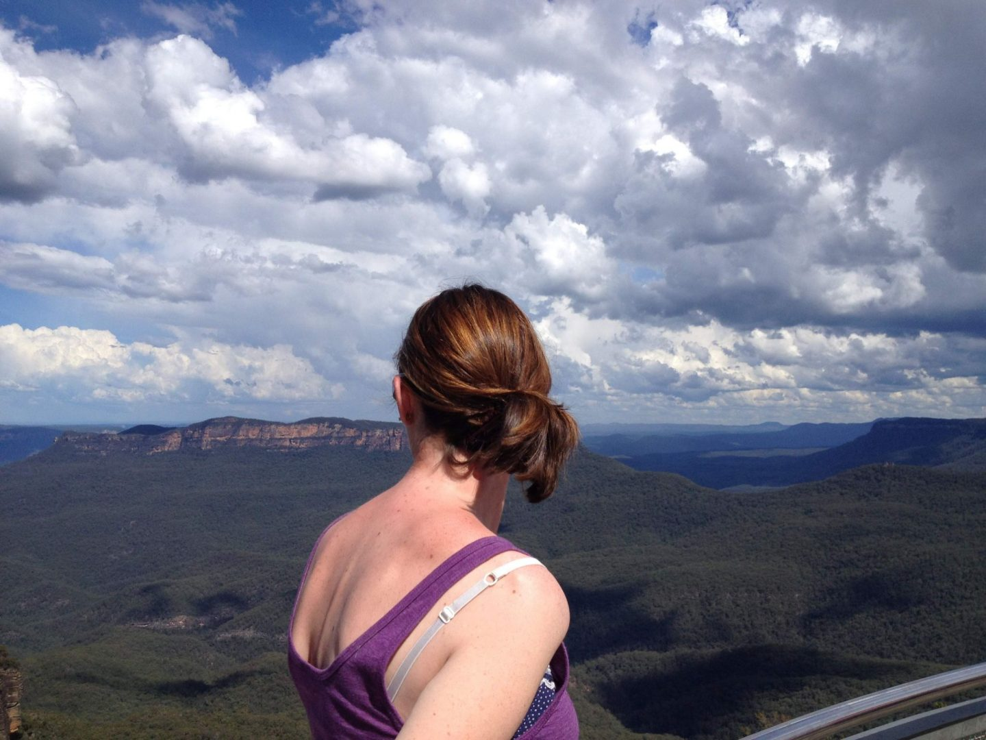 Looking out at the Blue Mountains, New South Wales