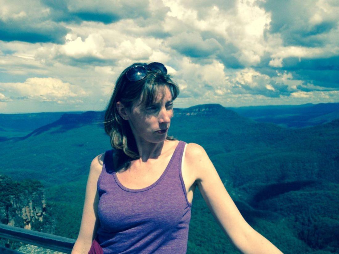 Mum admiring the view near Katoomba