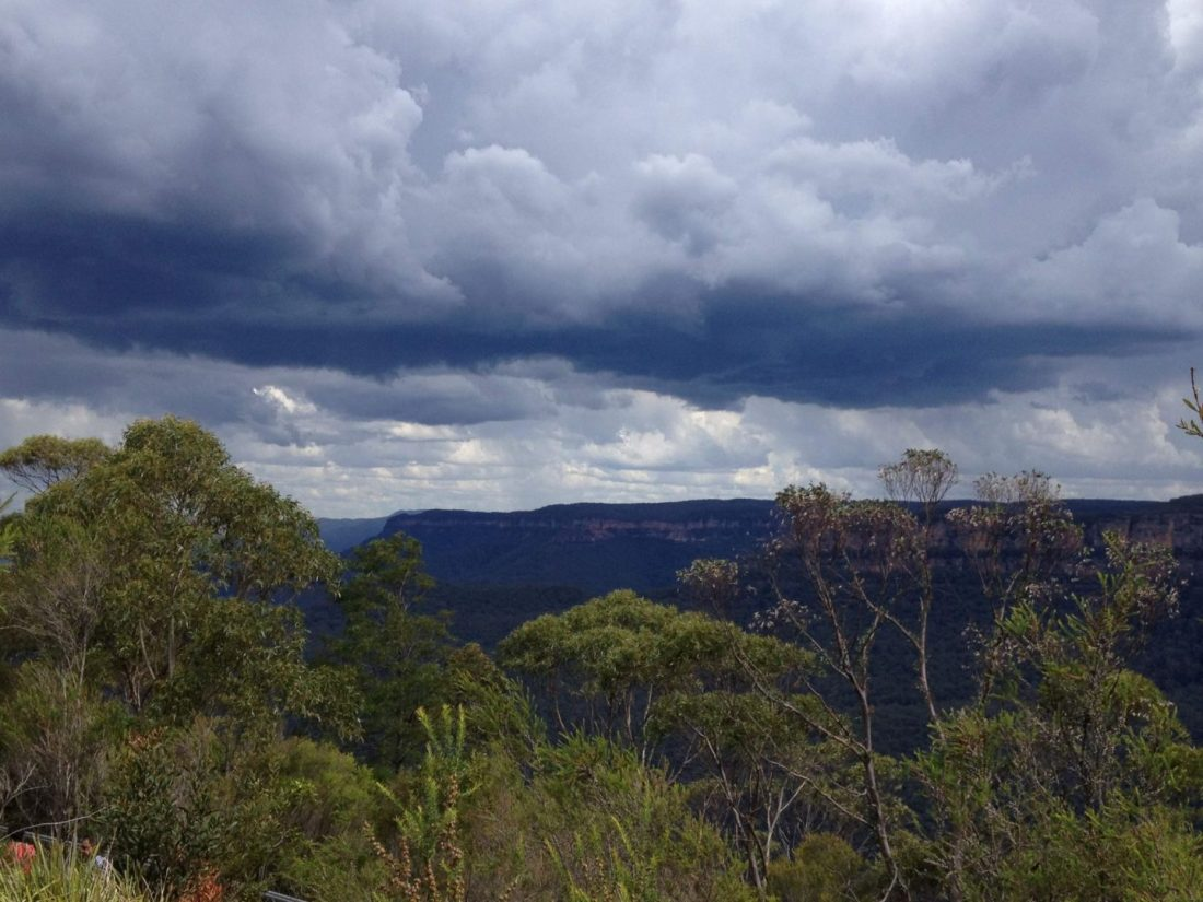 Storm over the Blue Mountains, Australia