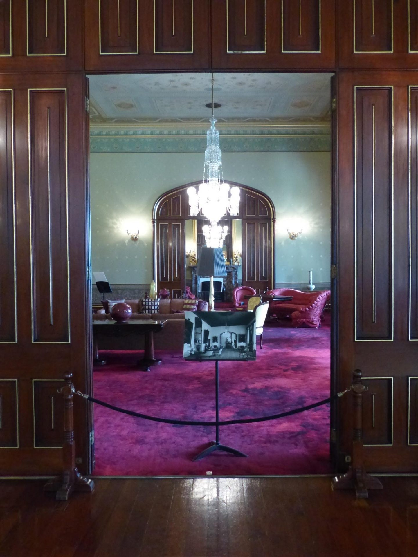 Room for entertaining in Government House, Sydney