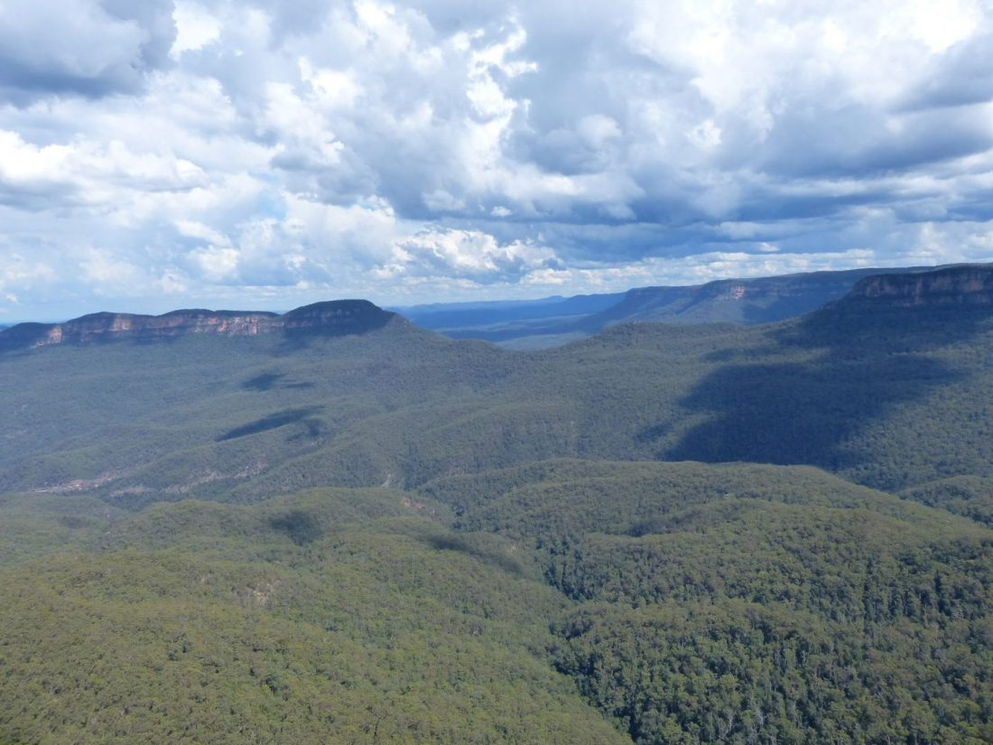 View across the Blue Mountains, Australia