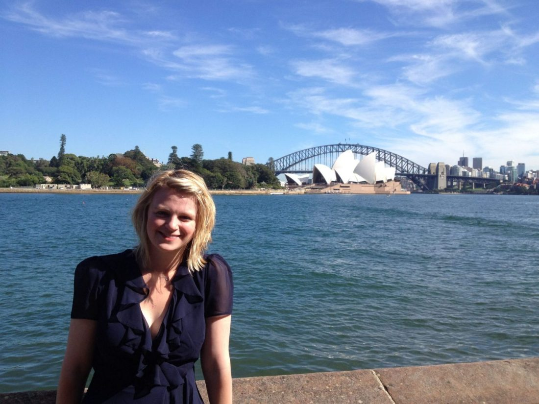 Laura at Mrs Macquaries Chair, Sydney