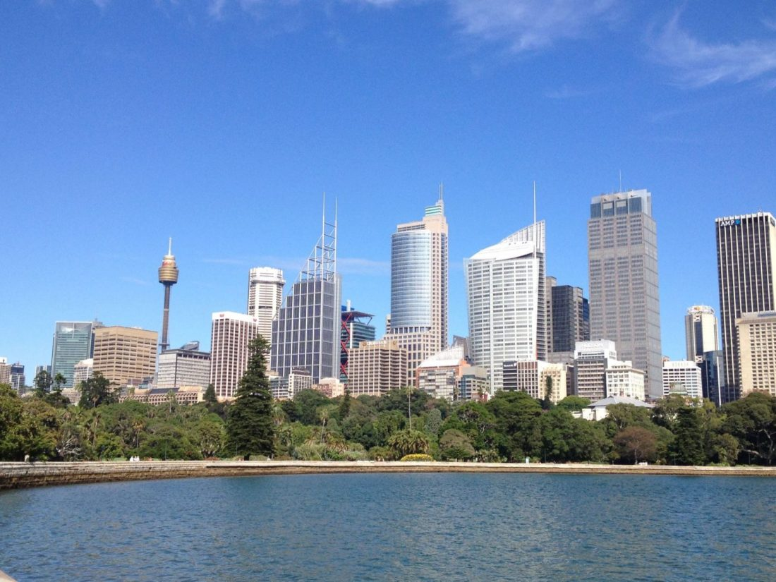 Sydney Tower Eye and Sydney skyline