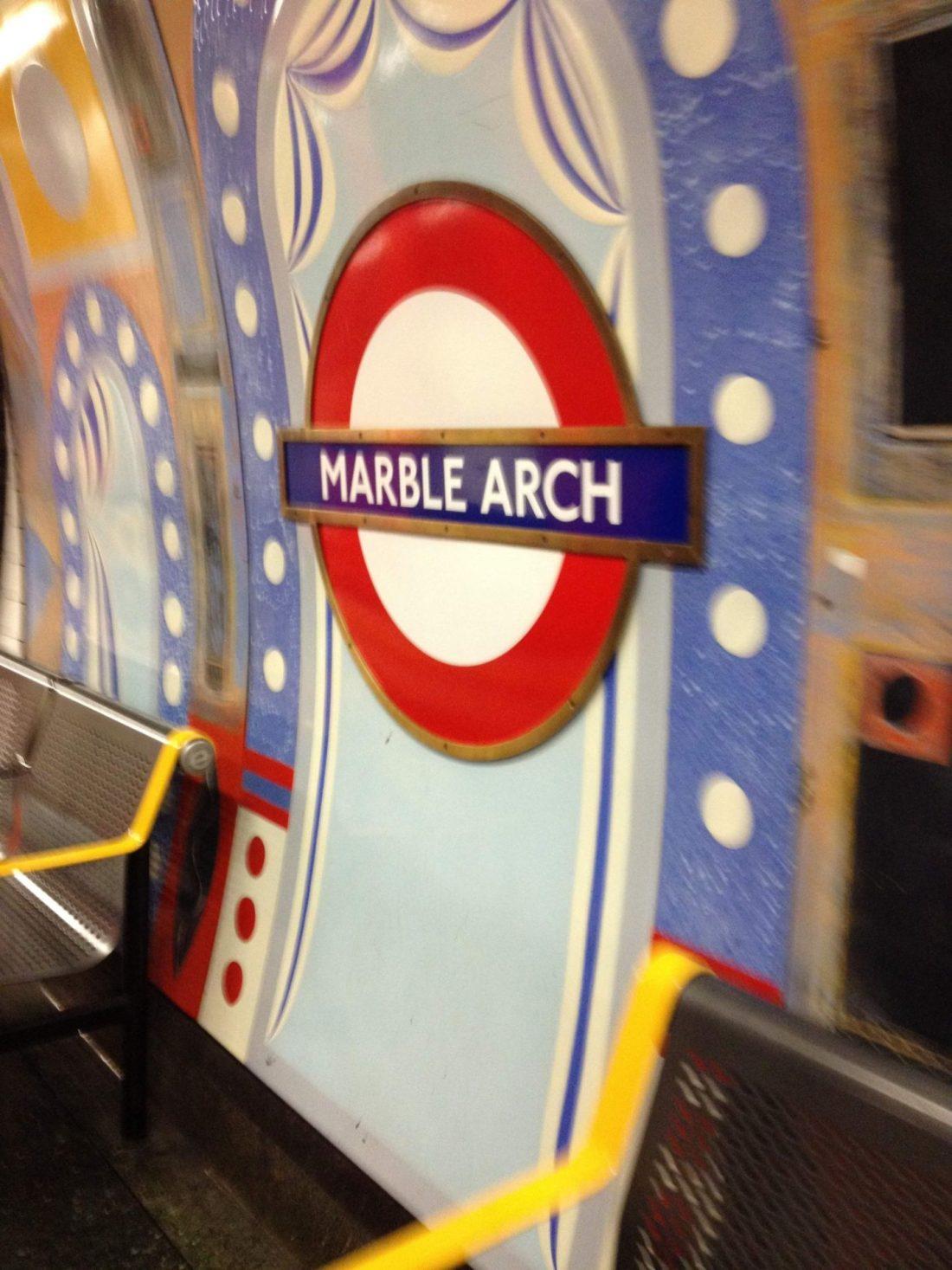Marble Arch Underground Station, London