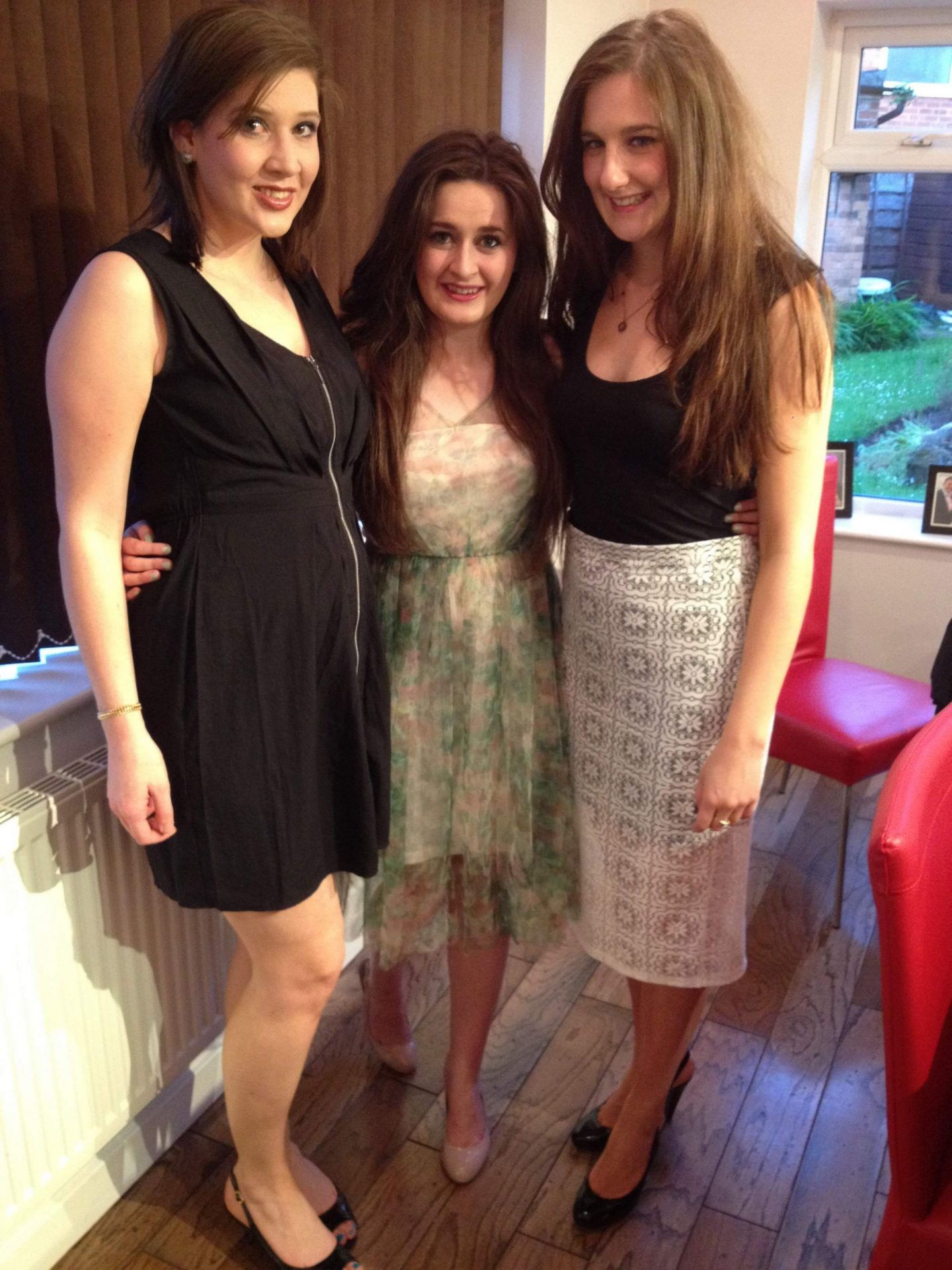 Girls ready for a night out in Manchester