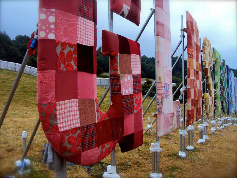 Glastonbury Festival sign