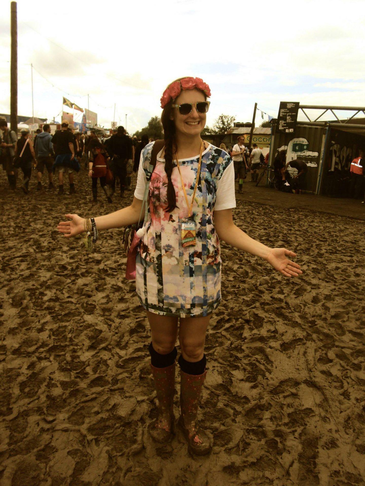 Jo in the mud