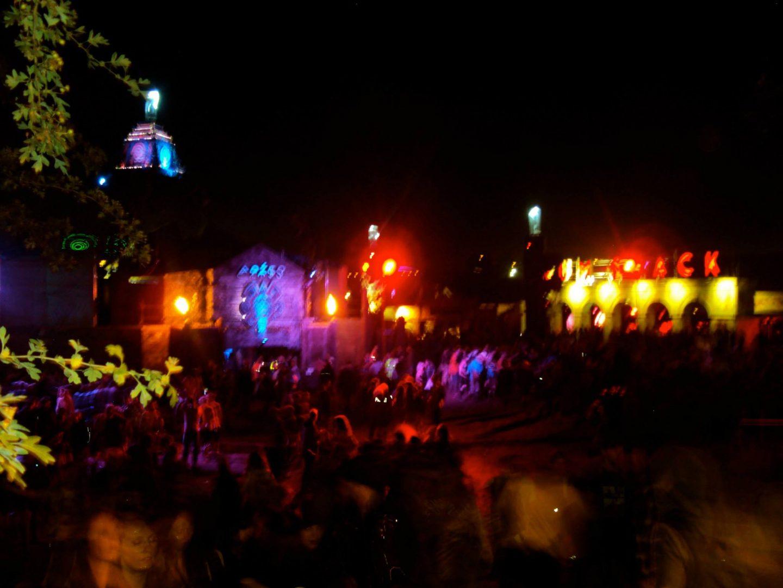 Glastonbury Festival at night