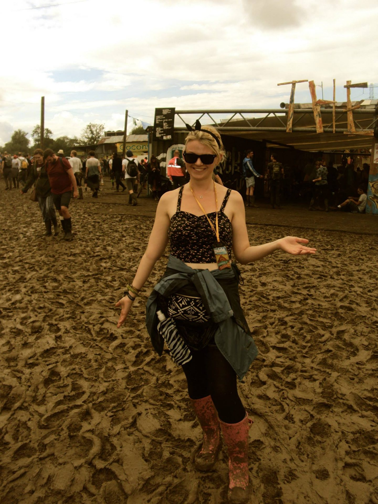 Laura in the mud