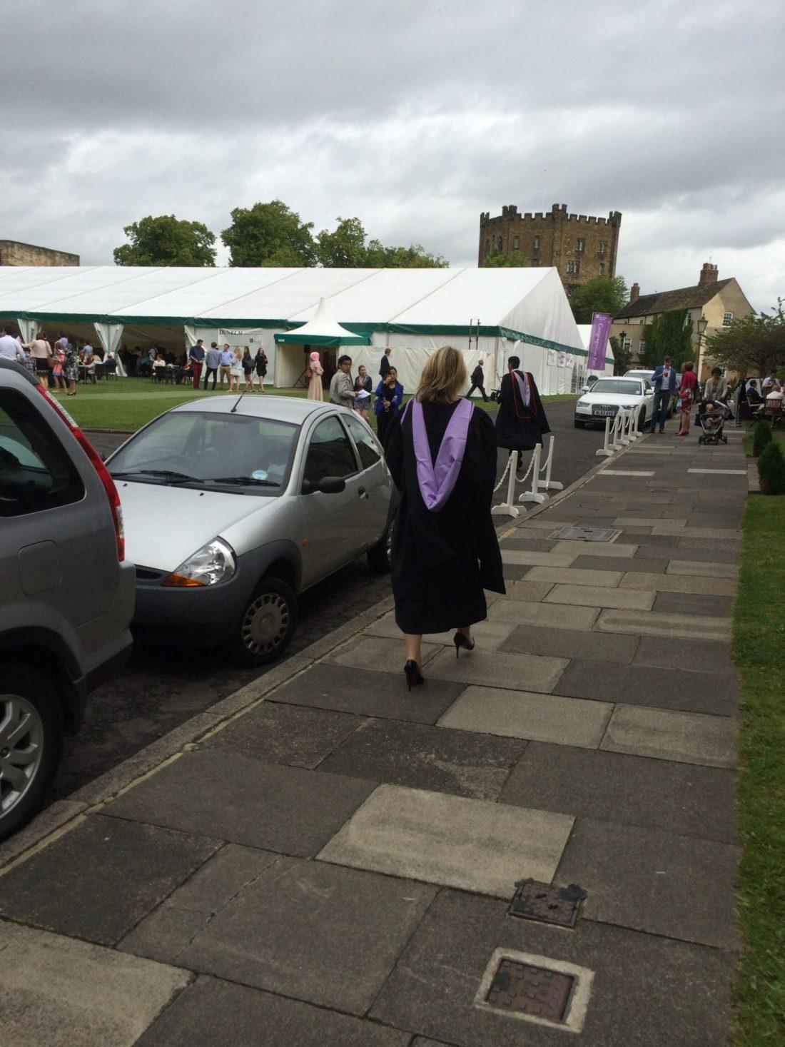 Laura at Durham Graduation