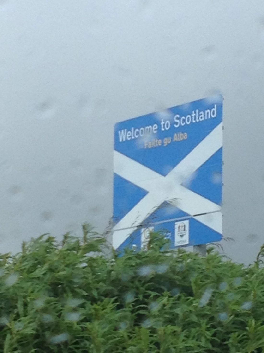 Rain in Edinburgh, Scotland