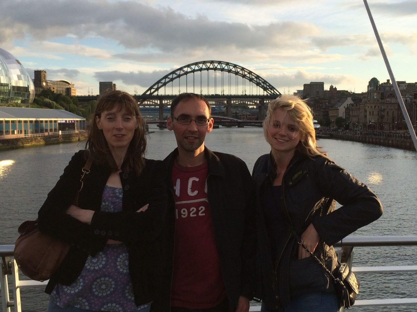 Family at the Tyne Bridge, Newcastle