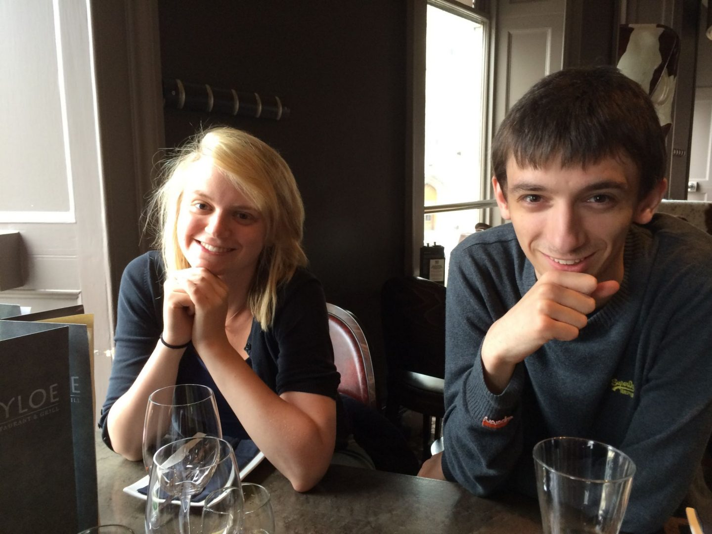 Laura and Jack waiting for steak in Kyloe