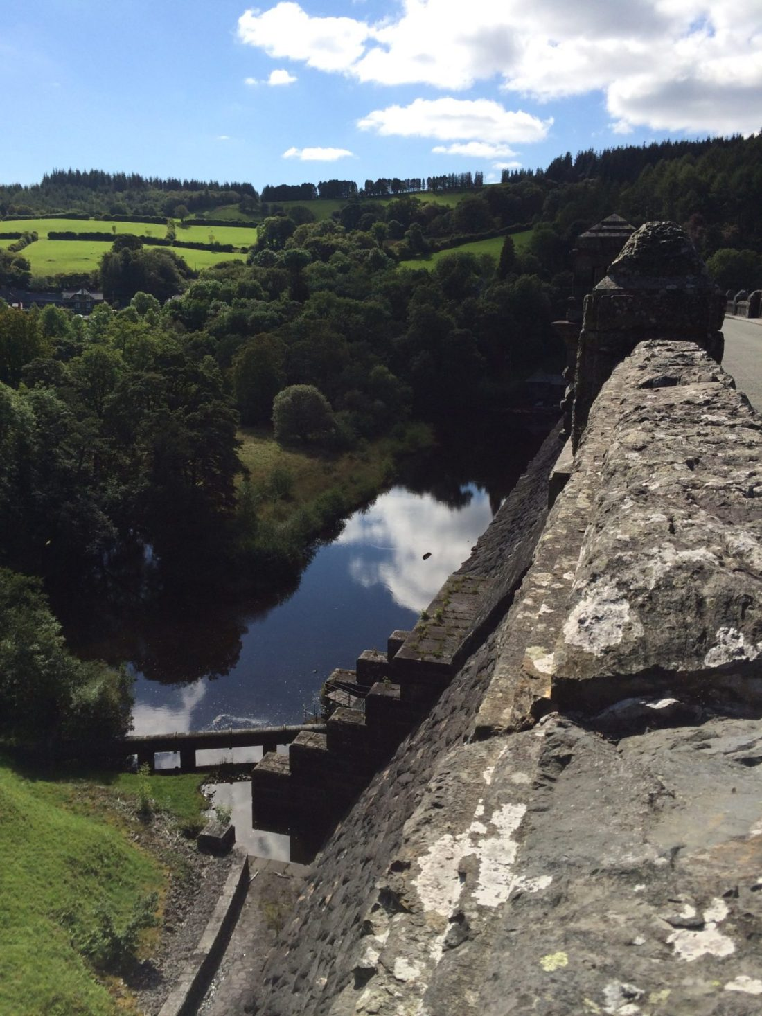 Overlooking the bridge at Lake Vyrnwy, Wales