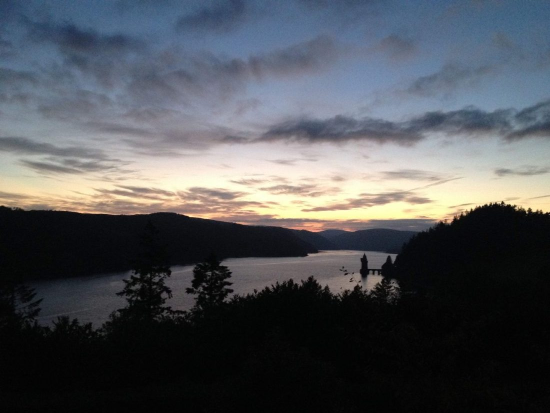 Sunset over Lake Vyrnwy, Wales